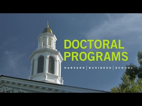 Harvard Business School Doctoral Programs