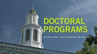 Top 10 MBA - Harvard Business School Doctoral Programs
