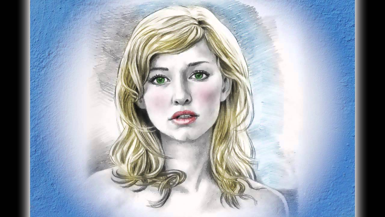 auto sketch drawing of pretty u0027s face after effects