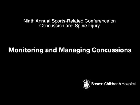 Monitoring and Managing Concussions Boston Children's Hospital
