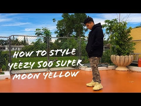 178e87d3ba641 How To Style The Yeezy 500 Super Moon Yellow - YouTube