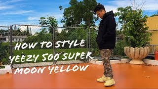 How To Style The Yeezy 500 Super Moon Yellow