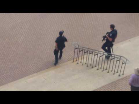 Guns Drawn Outside of Federal Building