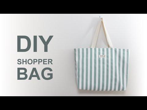 빅사이즈 에코백 만들기 DIY | 미싱으로 핸드메이드 가방만들기[ENG sub] Sewing tutorial shoulder bag | tote bag #소잉타임즈