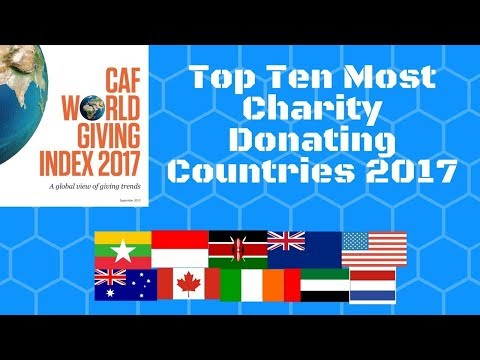 TOP 10 MOST GENEROUS COUNTRIES IN THE WORLD 2017........WORLD GIVING INDEX 2017