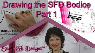 How to Draw a Basic Bodice Front Part 1   - How to Make your own Sewing Patterns