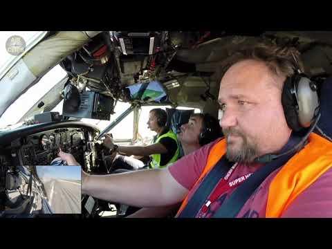 PURE MUSCLE POWER!!! Antonov 12 Takeoff with DUAL Yoke Inputs!!!  [AirClips]