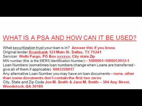 Mortgage Checkup Pooling And Servicing Agreement Litigation Youtube