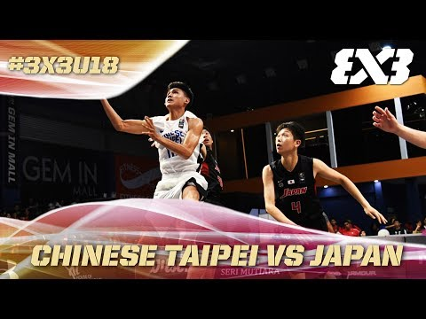 Chinese Taipei with a huge Quarter-Finals victory over Japan - Full Game - Asia Cup U18 - FIBA 3x3
