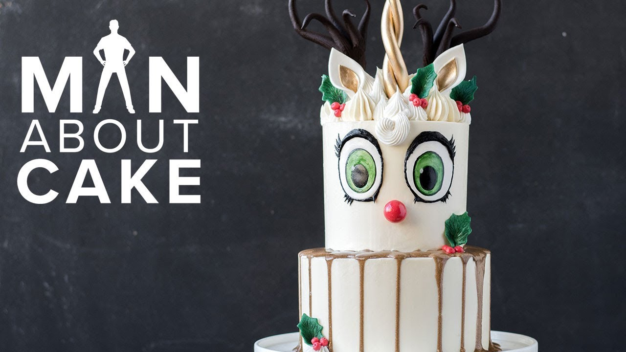 man-about-cake-christmas-special-unicorn-reindeer-buttercream-cake-with-joshua-john-russell