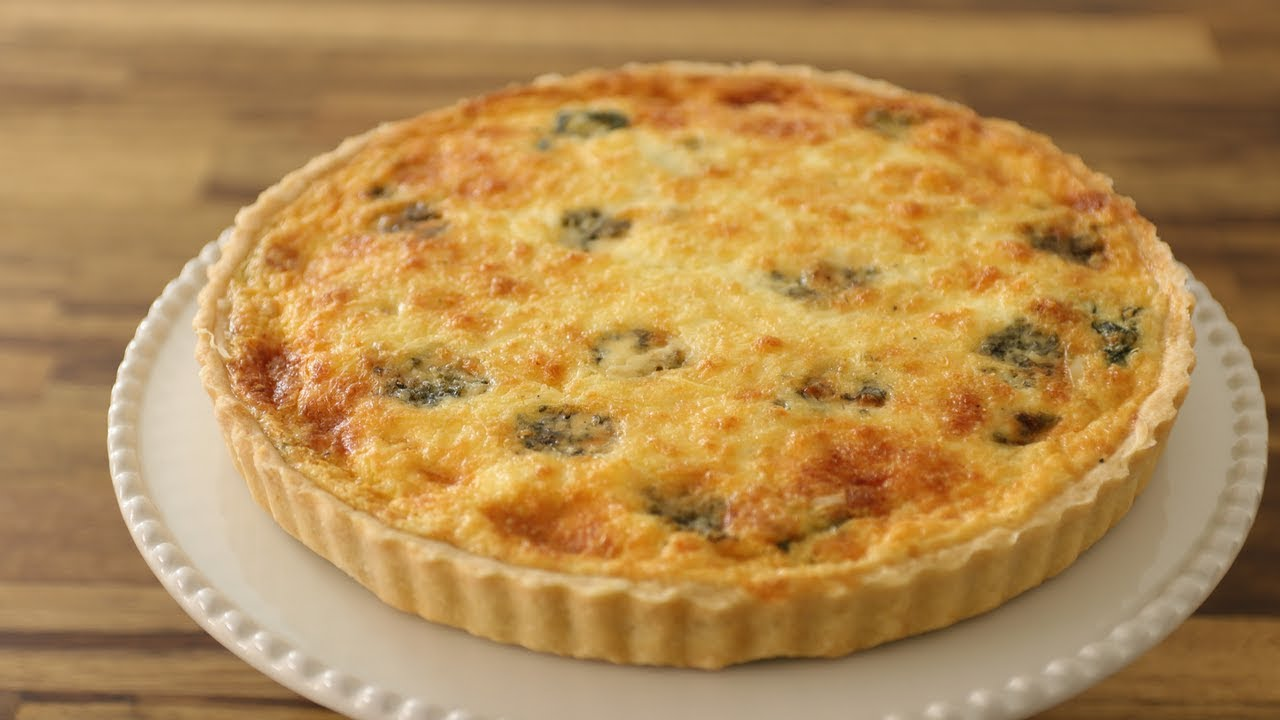 Spinach And Cheese Quiche Recipe Youtube