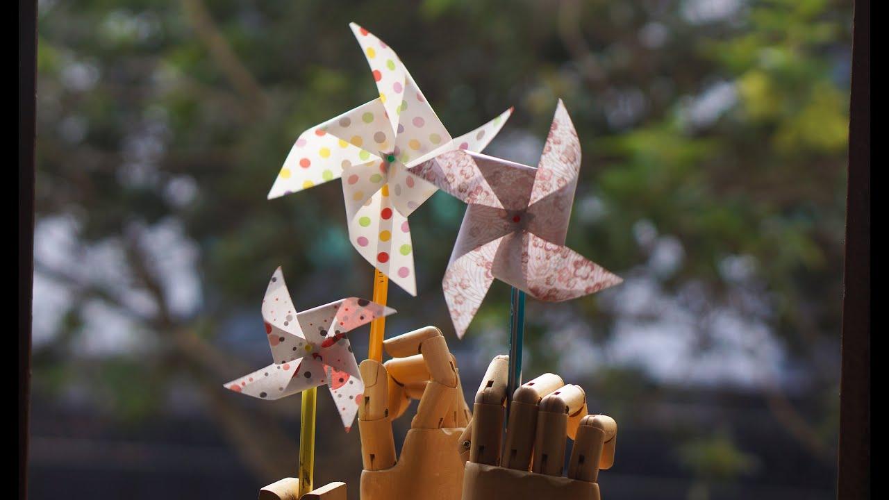 Cómo hacer un remolino de papel que gire - molinillo de viento