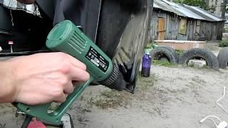 как убрать ржавчину и покрасить автомобильную дверь