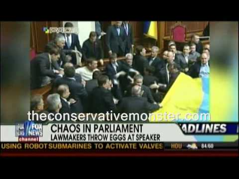 Politicians Throw Eggs at Speaker of the Ukrainian Parliament