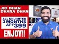JIO Monsoon OFFER Launched - 309, 349, 399, 509 Plans - Jio Dhan Dhana Dhan Again FREE for 3 Months