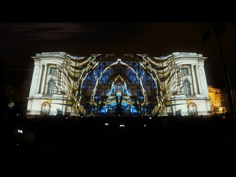 Projection Mapping on National Museum of Art Bucharest - Spotlight Festival 2017