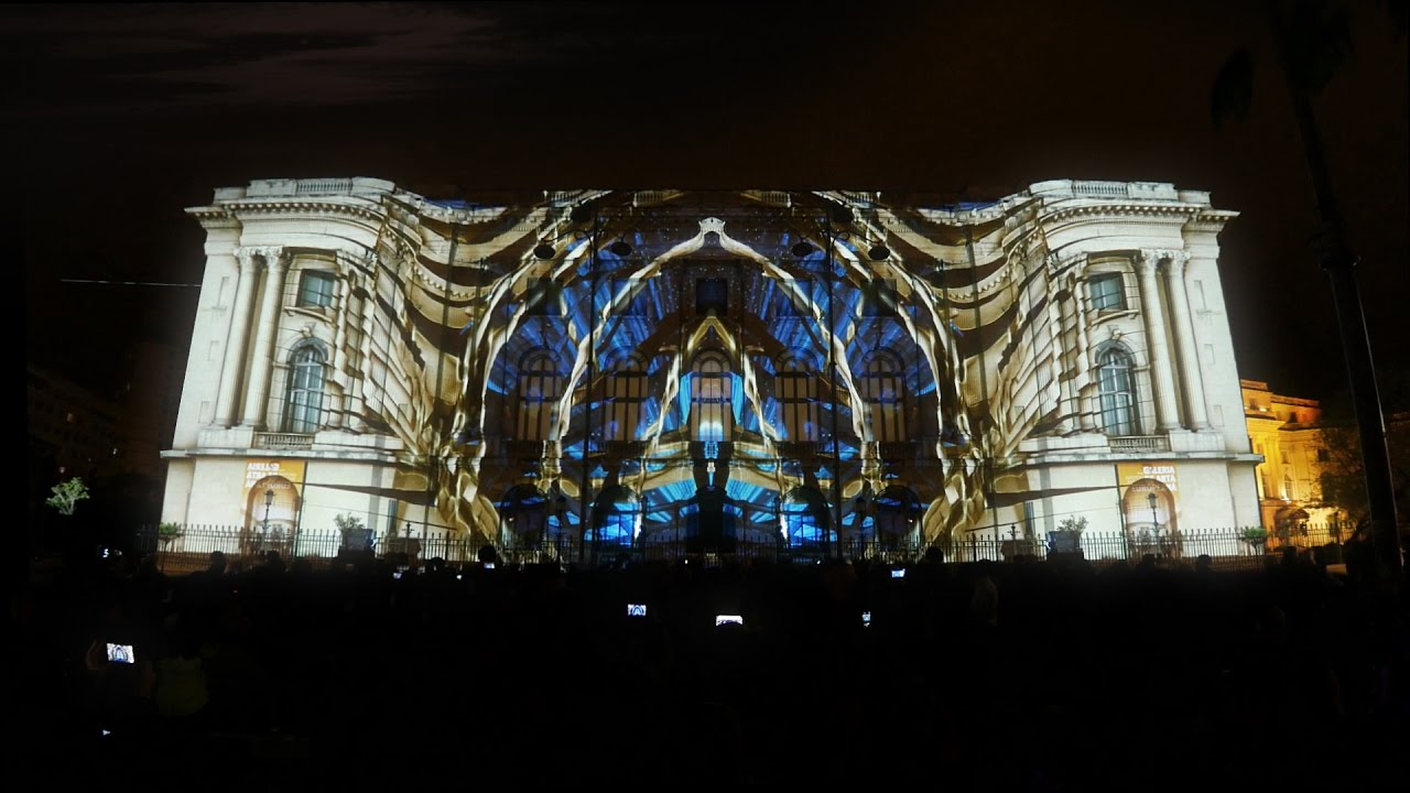 Projection Mapping On National Museum Of Art Bucharest