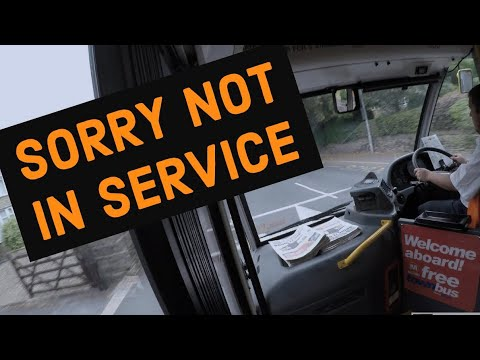 Uk Bus Driver Driving Out Of Service - Depot to Halifax (4K)
