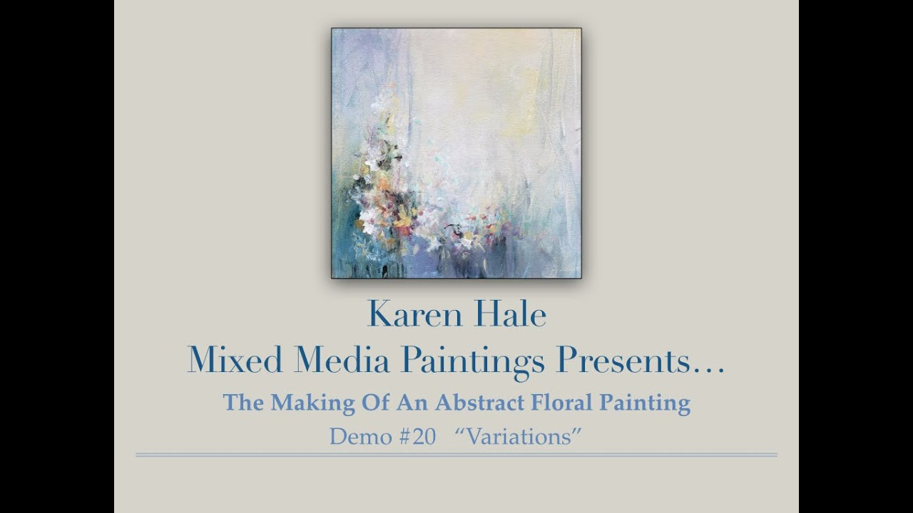 Painting Demo Of An Acrylic Impressionistic Floral Abstract Flower Painting On Canvas
