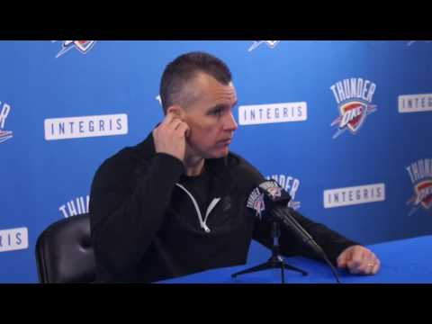 4.26.17 Thunder Exit Interviews with Billy Donovan (Part One)