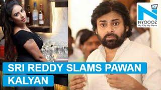 Sri Reddy shows middle finger, abuses Pawan Kal...