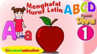 Menghafal Huruf Latin ABCD HD - Part 1 | Kastari Animation Official