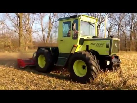 [HD] Senf Mulchen    MB-Trac 700 G + Vogel&Noot   