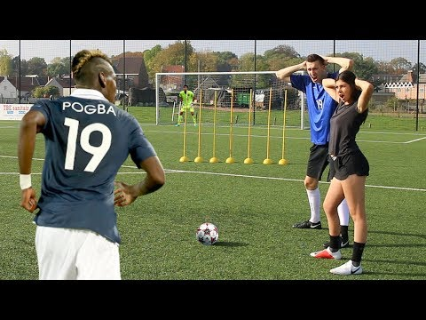 PAUL POGBA FREE KICK CHALLENGE W/ DIRTY FORFEIT!