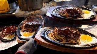 대만에서 유명한 스테이크 누들 taiwan egg noodle steak / taiwanese street food