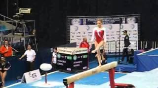 Ксения Афанасьева, бревно, квалификация, Чемпионат Европы, Москва 2013г