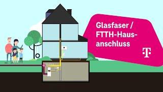 Telekom: Hausanschluss und Hausverkabelung FTTH/Glasfasertechnik