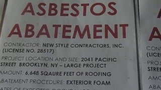 RANT NYCHA APARTMENT (ASBESTOS ABATEMENT ON THE ROOF) CAUSED PNEUMONIA IN SONS LUNGS!! 7 2010
