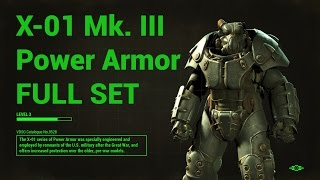 #5 Fallout 4 - X-01 Mk. III Power Armor with location [NO COMMENTARY]