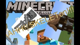 Minecraft POCKET EDITION Let's Play  SKELETONS AND HOUSE FINISHING!!!  Episode 6
