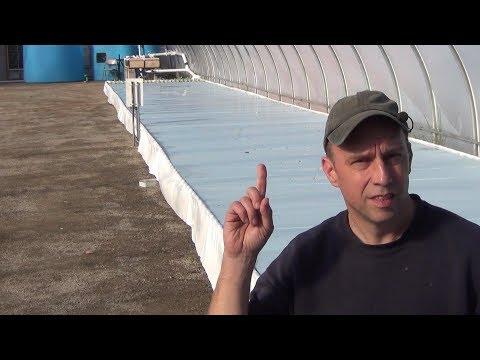 Big Aquaponic Greenhouse – Part 11 – DWC Bed