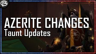 Threat Changes Clarified and Azerite Balance going forward