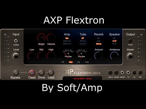 AXP Flextron by Soft/Amp - Virtual High Gain Amp - Metal Tone Test (Free Plugin)