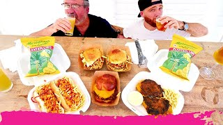 American Latin Street Food in Miami - Frita Burger, Burrito & Jerk Chicken Hot Dogs | Bird Road