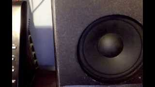 Bass testing reconstructed surround sound RCA speakers