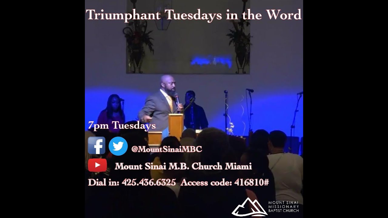 Triumphant Tuesdays in the Word Tuesday April 21, 2020