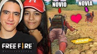 JUGANDO FREE FIRE POR PRIMERA VEZ CON MI NOVIA *la partida mas bonita* | TheDonato thumbnail