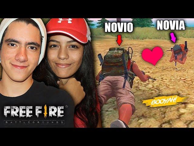 JUGANDO FREE FIRE POR PRIMERA VEZ CON MI NOVIA *la partida mas bonita* | TheDonato