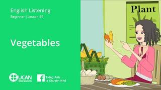 Learn English Via Listening | Beginner: Lesson 49. Vegetables