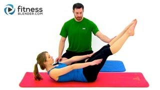 Pilates Abs and Obliques Workout - 26 Minute Fitness Blender Online Pilates Class