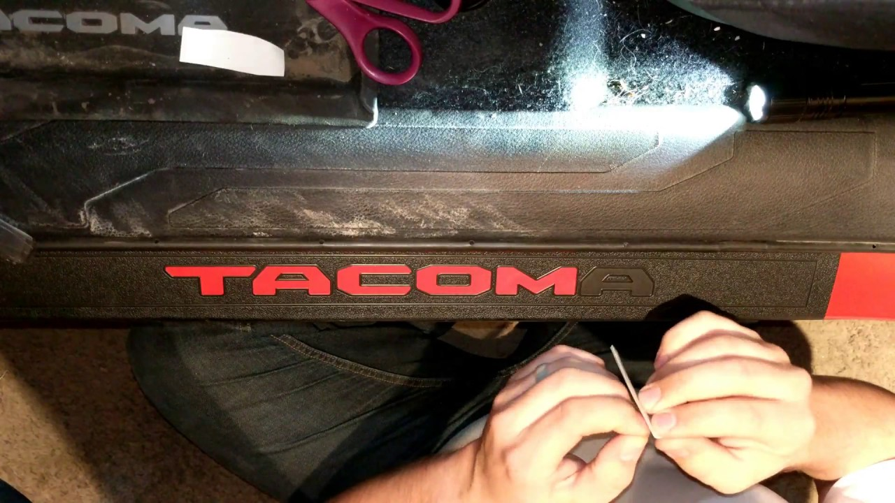 Tacoma Door Sill And Dash Stickers Installation Youtube