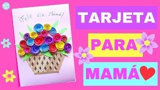 Tarjeta para el dia de la Madre 🌷 👩👦  🌹 - DIY hecho a mano - Fácil y rápida | Partypop DIY!🎉|