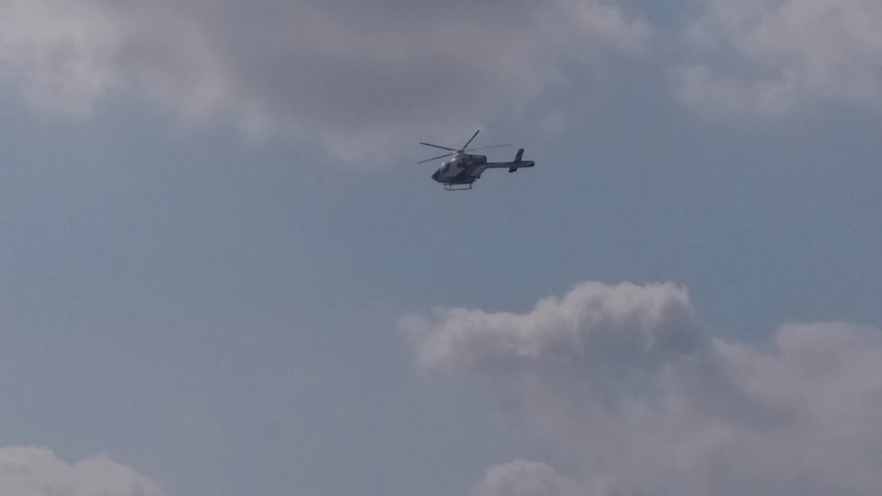 Police/Rendőrség MD902 helicopter over the Danube