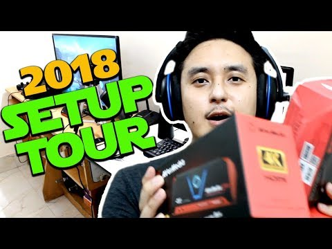 NEW GAMING SETUP TOUR 2018!! (Avermedia LGP2 Plus / Microphone/ Webcam)