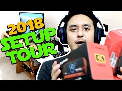 NEW GAMING SETUP TOUR 2018!! (Avermedia LGP2 Plus / Microphone/ Webcam)
