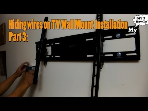 Hiding Wires on TV Wall Mount Installation - 4 of 4 - Hiding Wires On TV Wall Mount Installation - 4 Of 4 - YouTube